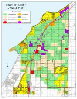Town of Scott Zoning Map